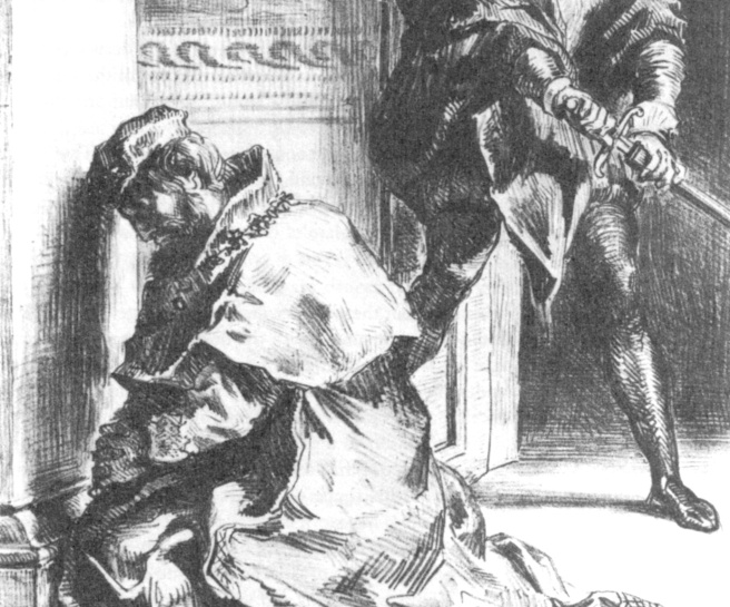 photo credit: http://en.wikipedia.org/wiki/File:Claudius_at_Prayer_Hamlet_3-3_Delacroix_1844.JPG